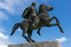 Alexander der Große-Monument am Damm der Stadt von Saloniki, Zentralmakedonien, Lizenzfreies Stockbild