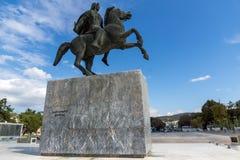 Alexander der Große-Monument am Damm der Stadt von Saloniki, Zentralmakedonien, Stockbilder