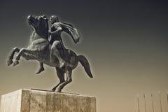 Alexander det stort, den berömda konungen av Macedon Arkivfoton