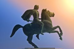 Alexander det stort, den berömda konungen av Macedon Royaltyfria Bilder