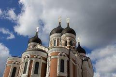 alexander domkyrka nevsky tallinn Royaltyfria Bilder