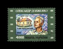 Alexander Dovzhenko berömd ukrainsk filmproducent, 100. födelseårsdag, circa 1994, Royaltyfria Foton