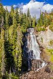 Alexander Falls, British Columbia, Canada. Alexander Falls is a waterfall on Madeley Creek, a tributary of Callaghan Creek in the Callaghan Valley area of the Royalty Free Stock Photo