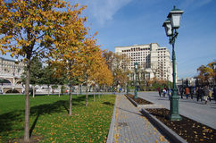 Alexander Garden in autumn day in Moscow Stock Photo