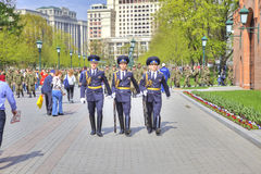 Alexander Garden. Going is a guard of honor Stock Image