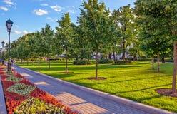 Alexander Garden in het centrum van Moskou Royalty-vrije Stock Foto