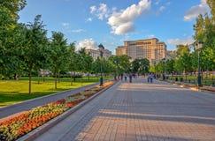 Alexander Garden in het centrum van Moskou Stock Afbeeldingen