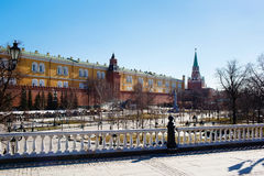 Alexander Garden and Kremlin. Moscow, Russia Royalty Free Stock Images