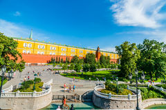 Alexander garden by the Kremlin Stock Images