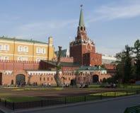 Alexander Garden. Mitten av Moskva. Ryssland arkivfoton