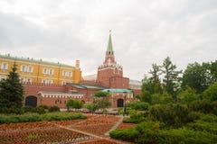 Alexander garden In Moscow stock image