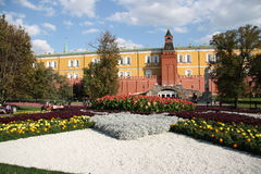 Alexander Garden and Moscow Kremlin Royalty Free Stock Photo