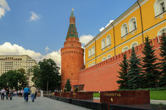 Alexander garden in Moscow Royalty Free Stock Photo