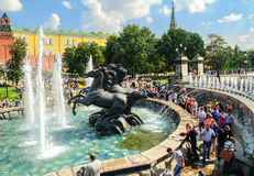 Alexander garden in Moscow Royalty Free Stock Photos