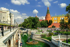 Alexander garden in Moscow Stock Photo