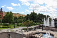 Moscow Alexander Garden near Kreml. The Alexander Garden near Kreml in Moscow royalty free stock photos