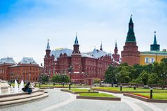 Alexander Gardens in Moscow, Russia stock image