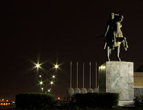 Alexander the Great. Statue of Alexander the Great in Thessaloniki, Greece stock image