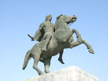 Alexander the Great. Statue in Thessaloniki Royalty Free Stock Photos