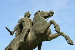 Alexander the Great. Thessaloniki, Greece stock image