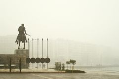 Alexander the Great. Statue of Alexander the Great in Thessaloniki-Greece stock photos