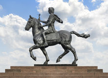 Alexander The Great on Horse over Blue Sky Royalty Free Stock Photos