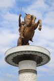 Alexander the Great. On a horse in Skopje Macedonia stock photography