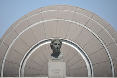 Alexander the Great at the Library of Alexandria stock photography