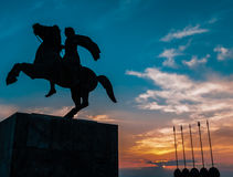 Alexander the Great Monument Stock Photos