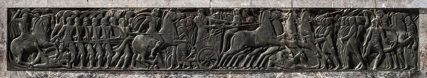 Alexander the Great, relief art monument. Location: Thessaloniki,Greece Stock Photography