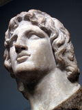 Alexander the Great Statue. Alexander the Great 356-323 BC born in Pela the capital of Macedon was the son of Phillip 11, the king of Macedon. He is one of the Royalty Free Stock Photography