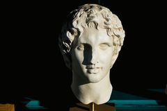Alexander the great statue stock photo