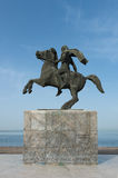 Alexander the Great. Statue of Alexander the great at Thessaloniki royalty free stock photo