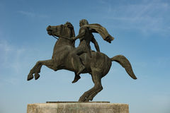 Alexander the Great. Statue of Alexander the great at Thessaloniki stock image