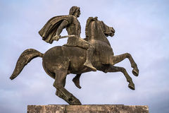 Alexander the Great statue, Thessaloniki Royalty Free Stock Image