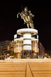 Alexander the Great. Warrior on a Horse statue (Alexander the Great), Skopje royalty free stock images