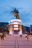 Alexander the Great. Warrior on a Horse statue (Alexander the Great), Skopje royalty free stock image