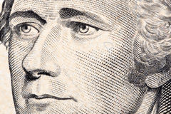 Alexander Hamilton, a close-up portrait Stock Images