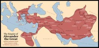 Alexander het Grote Imperium royalty-vrije illustratie