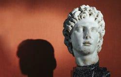 Alexander het Grote portret Stock Foto