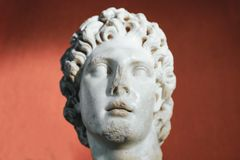 Alexander het Grote portret Stock Foto's