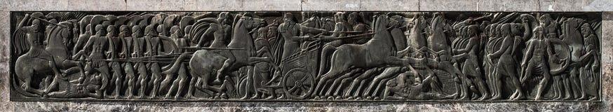 Alexander het monument van de Grote, hulpkunst stock fotografie