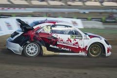 Alexander Hvaal.  Barcelona FIA World Rallycross Royalty Free Stock Image