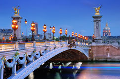 Alexander III bridge. Royalty Free Stock Photography
