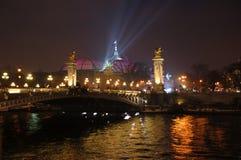 Alexander III bridge. In the night Stock Photography