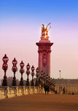 The Alexander III Bridge across Seine river in Paris, France Stock Image