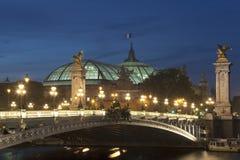 Alexander III bridge and Grand palais, Paris Royalty Free Stock Images