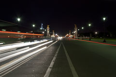 The Alexander III bridge at night - Paris Royalty Free Stock Photography