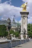 Alexander III bridge in Paris Royalty Free Stock Image