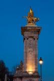Alexander III bridge, Paris Royalty Free Stock Photo